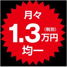 月々1.3万円